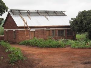 Multi-purpose building with solar panels.
